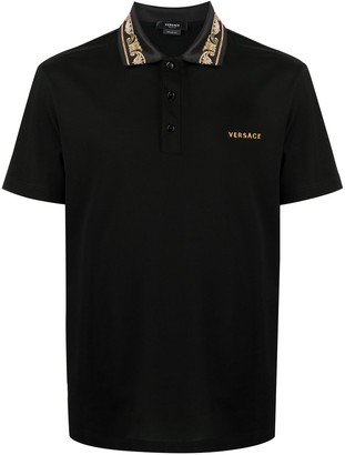 Versace Logo-Embroidered Polo Shirt