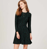 LOFT Jacquard Flare Dress