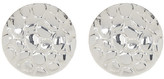 Simon Sebbag Sterling Silver Textured Button Earrings