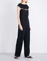 Chloé Ruffled silk-crepe jumpsuit