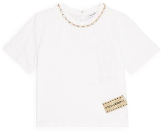 Dolce & Gabbana Kids Crystal-Trim T-Shirt