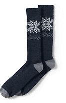 Classic Men's Chunky Boot Socks-Black Dot