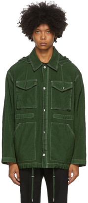 Ami Alexandre Mattiussi Green Patch Pockets Jacket