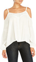 Jessica Simpson Crochet Trim Cold Shoulder Blouse