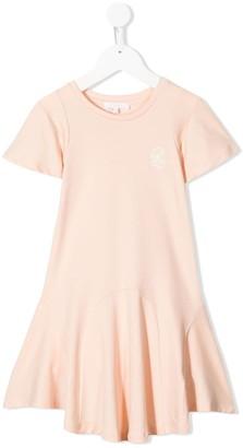 Chloé Kids Short Sleeve Flared Hem Dress