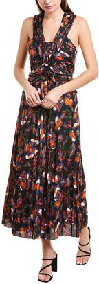 Derek Lam 10 Crosby Pleated Silk-Blend Maxi Dress
