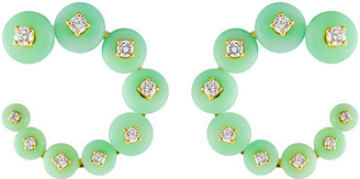 Fernando Jorge Surrounding Small Chrysoprase Circle Earrings