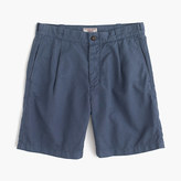J.Crew Wallace & Barnes pleated short in garment-dyed cotton-linen