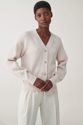 Cos Organic Cotton Ribbed Cardigan