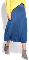 Everest Blue Pleat Maxi Skirt