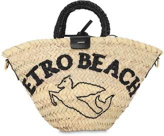 Etro Sm Raffia Bucket Bag