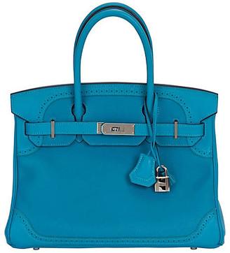 One Kings Lane Vintage Hermes 30cm Turquoise Birkin Ghillies - Vintage Lux