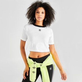adidas Women's Roll-Up Crop T-Shirt