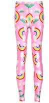 Lady Queen Women's Basic Rainbow Print Stretch Skinny Leggings Pants M