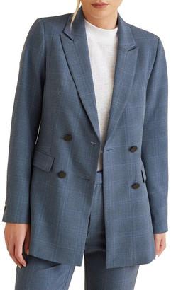 Seed Heritage Blue Iris Check Blazer