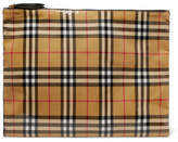 Burberry Checked Coated-poplin Pouch - Black