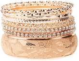 Charlotte Russe Embellished Bangle Bracelets - 8 Pack