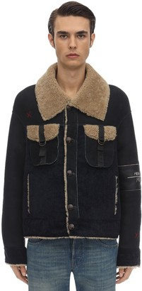Handle With Freedom Reversible Corduroy Jacket W/shearling