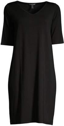 Eileen Fisher Knit V-Neck Shift Dress