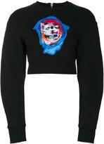 Versus Bruce kiss cropped sweatshirt