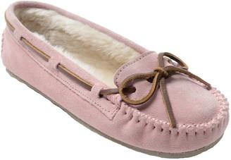 Minnetonka Women's Cally Blush Pink Moc Slippers