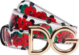 Dolce & Gabbana Reversible Print Leather Belt
