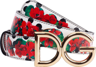 Dolce & Gabbana Reversible Print Leather Belt