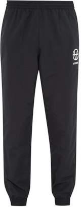 Vetements Anarchy-print Jersey Track Pants - Mens - Black