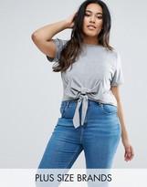 Boohoo Plus Bow Detail T-Shirt