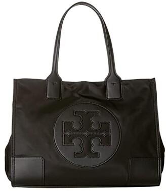 Tory Burch Ella Mini Tote (Black) Handbags