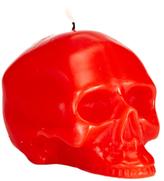 D.L. & Co. Medium Bright Red Skull Candle
