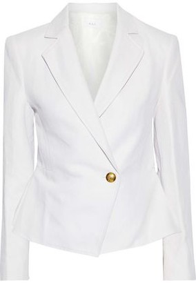 A.L.C. Fremont Linen And Cotton-blend Twill Peplum Blazer