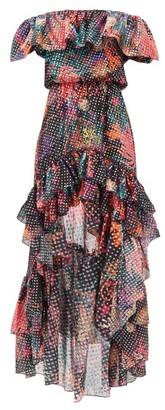Dundas Dip-hem Floral-print Fil-coupe Silk-blend Dress - Black Multi