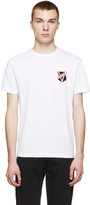 Versus White Logo Patch T-Shirt