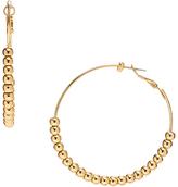 Carole Goldtone Bead-Accent Hoop Earrings