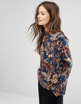 Gestuz Printed Blouse with Detachable Cuff