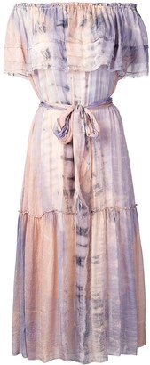 Raquel Allegra Tie-Dye Midi Dress
