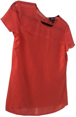 Armani Jeans Red Silk Top for Women