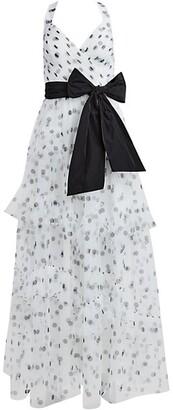 Polka Dot Halter Gown
