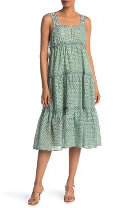 Max Studio Sleeveless Tiered Dress