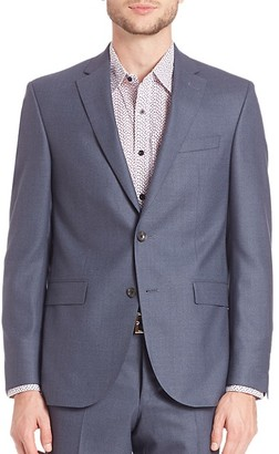 Saks Fifth Avenue Modern Single-Breasted Wool Blazer