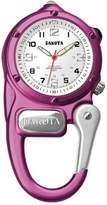 Dakota Women's Quartz Metal Pocket Watch, Color:White (Model: 38275)