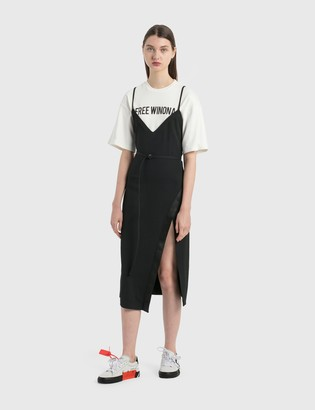Off-White Double Layer Slip Dress