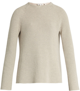 Helmut Lang Buckle-back crew-neck sweater