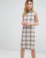 NATIVE YOUTH Checked Sleeveless Dress