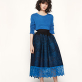 Maje Honeycomb knit and guipure skirt