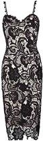 Imixshopcs Women Elegant Sweetheart Neck Lace Crochet Midi Bodycon Sheath Waist Dress (L, )