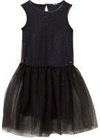 DKNY Black Glitter Tulle Sleeveless Dress