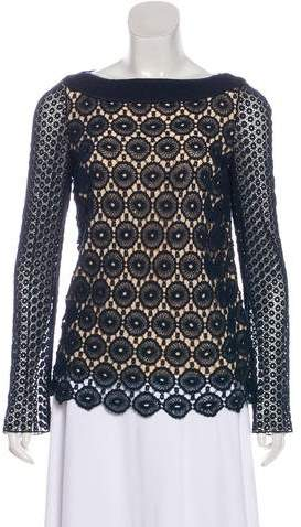 Long Sleeve Crochet Top Shopstyle