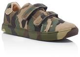 AKID Boys' Axel Camo Canvas Double Strap Sneakers - Walker, Toddler, Little Kid
